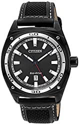 Citizen Eco-Drive Analog Black Dial Mens Watch - AW1050-01E