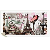 TopHome Modern Wall Art Pink Paris Eiffel Towel Decor Romantic City Paintings Poster Prints On Canvas UnFramed For Living Room 24X48 inch
