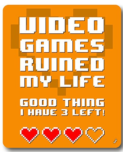 gaming-video-games-ruined-my-life-good-thing-i-have-3-left-alfombrilla-para-raton-23-x-19cm