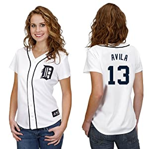 Alex Avila Detroit Tigers Home Ladies Replica Jersey by Majestic by Majestic