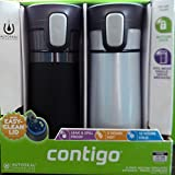 2 pk Contigo Pinnacle Thermal 14 oz Travel Mug Leak Spill Proof with Vacuum Insulated Body (Gray)