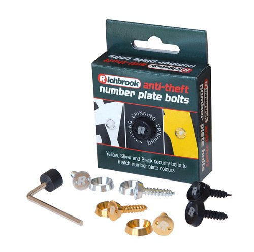 Richbrook Antitheft Number Plate Bolt Kit