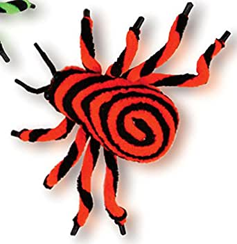 Fuzzy Spiral Spider Decoration Fun World