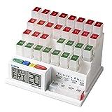 MedCenter ピルケース アラームでお知らせ デジタル時計と日付で確認