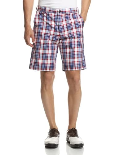 IZOD Men's Flat Front Medium Plaid Golf Shorts
