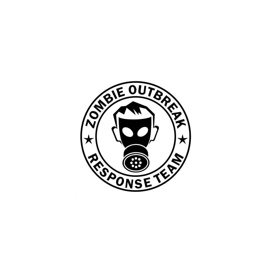 Zombie Outbreak Response Team IKON GAS MASK Design   5 BLACK   Vinyl Decal Window Sticker by Ikon Sign