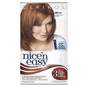 Clairol Nice 'N Easy Hair Color 110 Natural Light Auburn 1 Kit (Pack of 3)