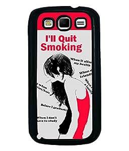Fuson Smoking Girl Back Case Cover for SAMSUNG GALAXY S3 - D3744