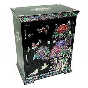 Boîte à Bijoux Rangement Collier Maquillage Nature Poesie Bois Laque Corée Asie 51D6y8BHX4L._SL500_AA300_