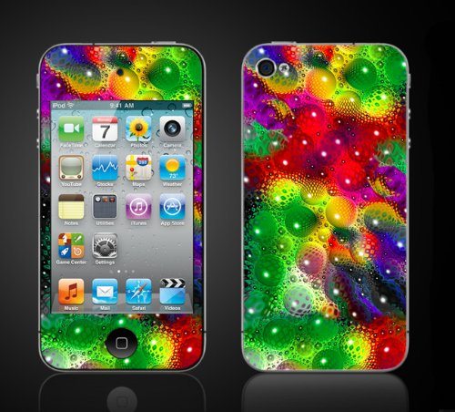 Apple Ipod Touch 4Th Gen Skin Kit - Lava Lamp Design. Colorful Lava Lamp front-1054615