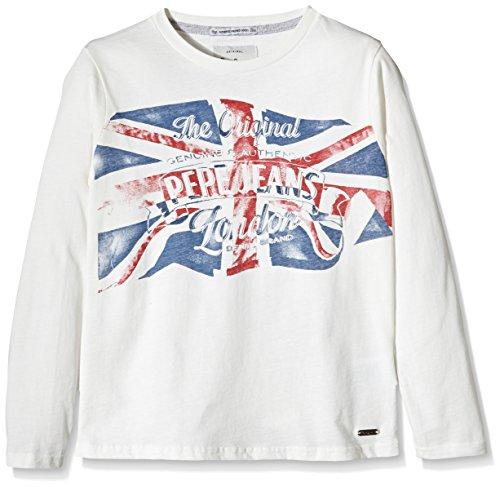 Pepe Jeans Jungen, T-Shirt, Thor, GR. 176 (Herstellergröße: 16), Elfenbein (off White 803)