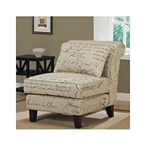 Accent chair stylish tan linen luxury for Cozy accent chair