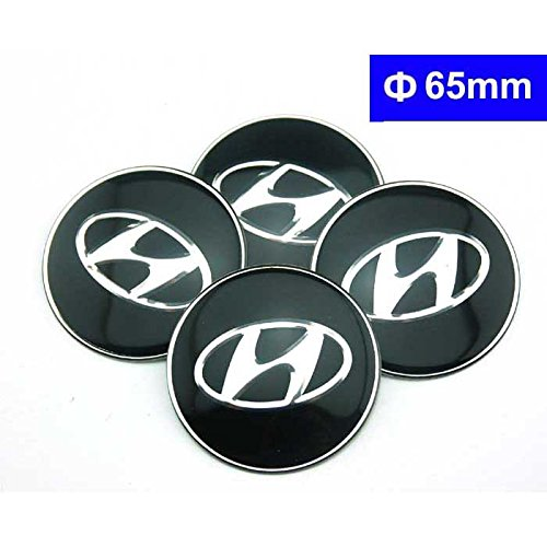 4pcs C075 65mm Black Car Styling Accessories Emblem Badge Sticker Wheel Hub Caps Centre Cover HYUNDAI ELANTRA i30 SONATA ix35 Santa fe Solaris TUCSON MISTRA Avante Azera ACCENT VERNA (Hubcap Hyundai Elantra compare prices)