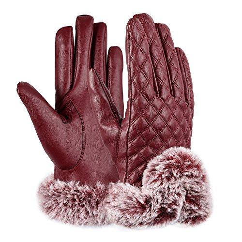 vbiger-femme-gants-hiver-chaud-ecran-tactile-avec-doublure-polaire-pour-sports-de-plein-air-rouge