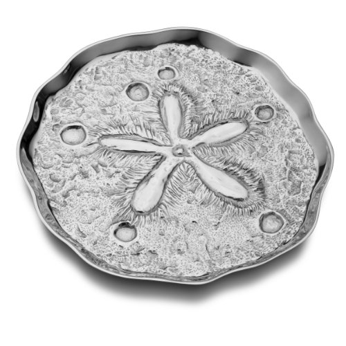 Wilton Armetale Sand Dollar Serving Tray, Round, 14-1/2-Inch