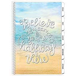 Tools4Wisdom Planner 2016 2017 Calendar July to June - 4-in-1: Daily Weekly Monthly Yearly Goals Organizer (8.5 x 11 / 200 Pages / Spiral / Academic Year)