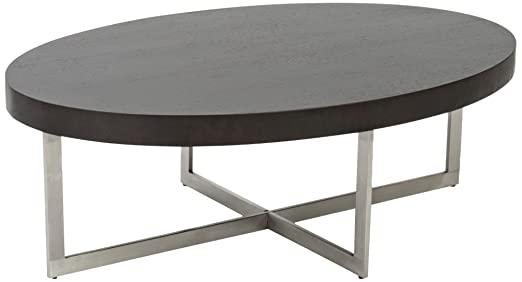 Oliver Wenge Modern Oval Coffee Table