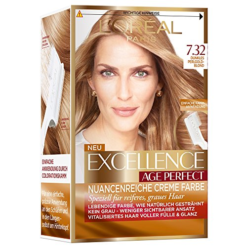 L'Oréal Paris Excellence Age Perfect Coloration, 7.32 dunkles perlgoldblond, 3er Pack (3 x 1 Stück) thumbnail