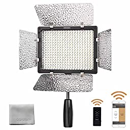 YONGNUO YN300III YN300III LED Camera Video Studio Light for Canon Nikon Pentax Olympus with remote control +2 Free OOPSTEK Brand Premium Cleaning Cloths For Camera lenses,Screens,Glasses and any other delicate surface