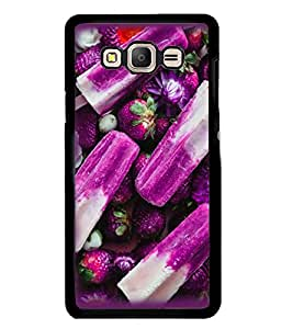 Fuson Premium Blue Berries Metal Printed with Hard Plastic Back Case Cover for Samsung Galaxy On7