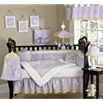 Dragonfly Dreams Lavender Baby Girl Purple Bedding 9pc Crib Set by Sweet Jojo Designs
