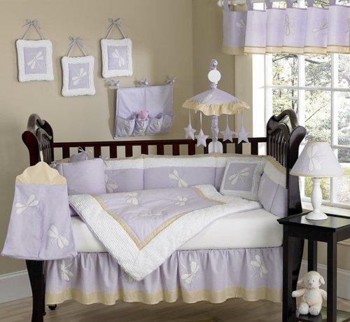 JoJo Designs 9-Piece Baby Designer Crib Bedding Set - Purple Dragonfly Dreams