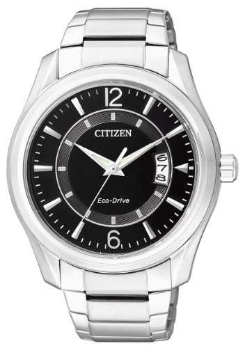 Citizen Men's Quartz Watch with Black Dial Analogue Display Quartz Stainless Steel AW1030 50E