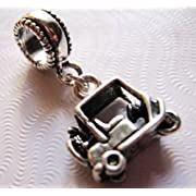 Golf Cart Sterling Silver Charm Dangle Bead European Style