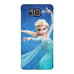 Premium Freezing Princess Multicolor Back Case Cover for Galaxy Alpha