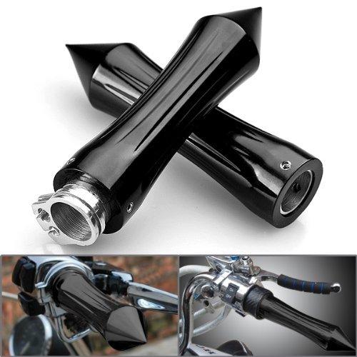 "Aluminum Black Anodized 7/8"" Spike Motorcycle Handlebar Hand Grip for Yamaha V-star"