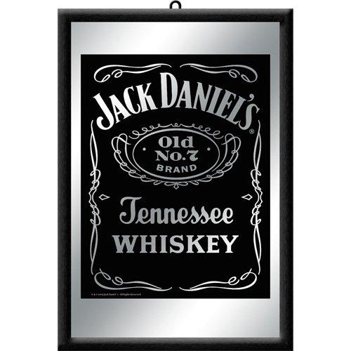 Nostalgic Art 80702 - Specchio con bottiglia Jack Daniels, 20 x 30 cm, colore: nero