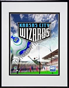 Kansas City Wizards 2007 Team Logo Double Matted 8 x 10 Photograph in Black Anodized... by Photo File