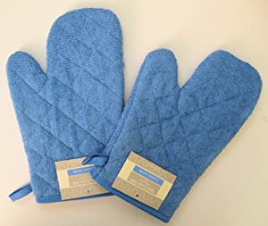 Classic Home Set of 2 Blue Terry Oven Mitts at Sears.com