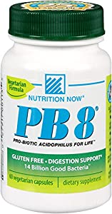 Now PB 8 Pro-Biotic Acidophilus Tablets, Vegetarian, 60 Count