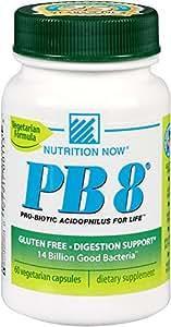 Now PB 8 Pro-Biotic Acidophilus Capsules, Vegetarian, 60 Count