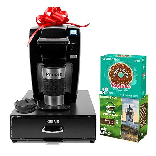 keurig-k15-single-serve-coffee-maker-holiday-bundle-with-36-k-cup-pods-12-oz-travel-mug-and-35-count