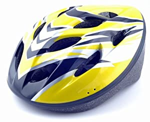 Sport Cycling Road Bicycle PC EPS Bike Adult Bike Security Head Helmet Carbon Visor (yellow)