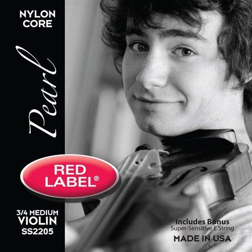 Super Sensitive 2205 Red Label Pearl Medium 3/4 Violin String Set