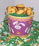 Scotts Cakes 1 lb. Coconut Macaroon Cookies in a Purple Bunny Pail