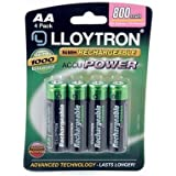 Lloytron Rechargeable 800mAh AA Batteries (4 Pack)