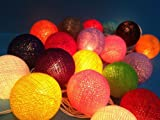 Hight Quality Funny Mix Cotton Ball Patio Party String Lights (20/set)
