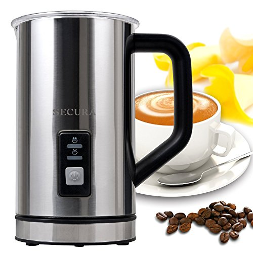Secura Automatic Electric Milk Frother and Warmer 250ml FREE cleaning brush