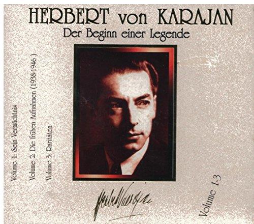Der Beginn Einer Legende (Volume 1-3) (3CD) [Audio CD] Herbert Von Karajan