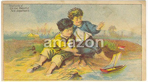 boys-playing-with-toy-sailboat-union-pacific-tea-company-akp-184
