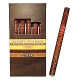 使い捨て 電子葉巻 吸引回数500回 5本セット 禁煙補助 電子タバコ VAPE STEEZ オリジナル商品 E CIGAR (ココナッツ)