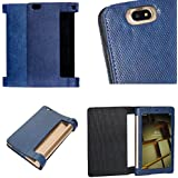 "Zaoma PU Flip Case Cover For IBall Slide Brace X1 10.1"" Tablet (Blue) [ Will Fit Both 4G + Non 4G ]"