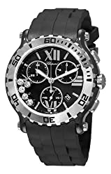 Chopard Women's 288515-9005 Happy Sport Black Chronograph Dial Watch by MUSIC TRADE