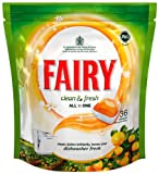 Fairy Auto Dishwash Tablets Clean & Fresh - Orange - 36 Tablets