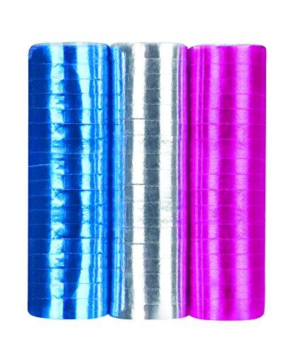 Rouleaux serpentins couleurs métalliques assorties disco