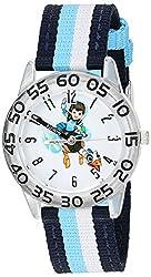Disney Kids W003048 Miles from Tommowland Analog Display Analog Quartz Blue Watch